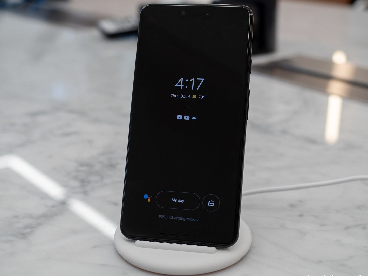 set up the pixel stand or wireless charger
