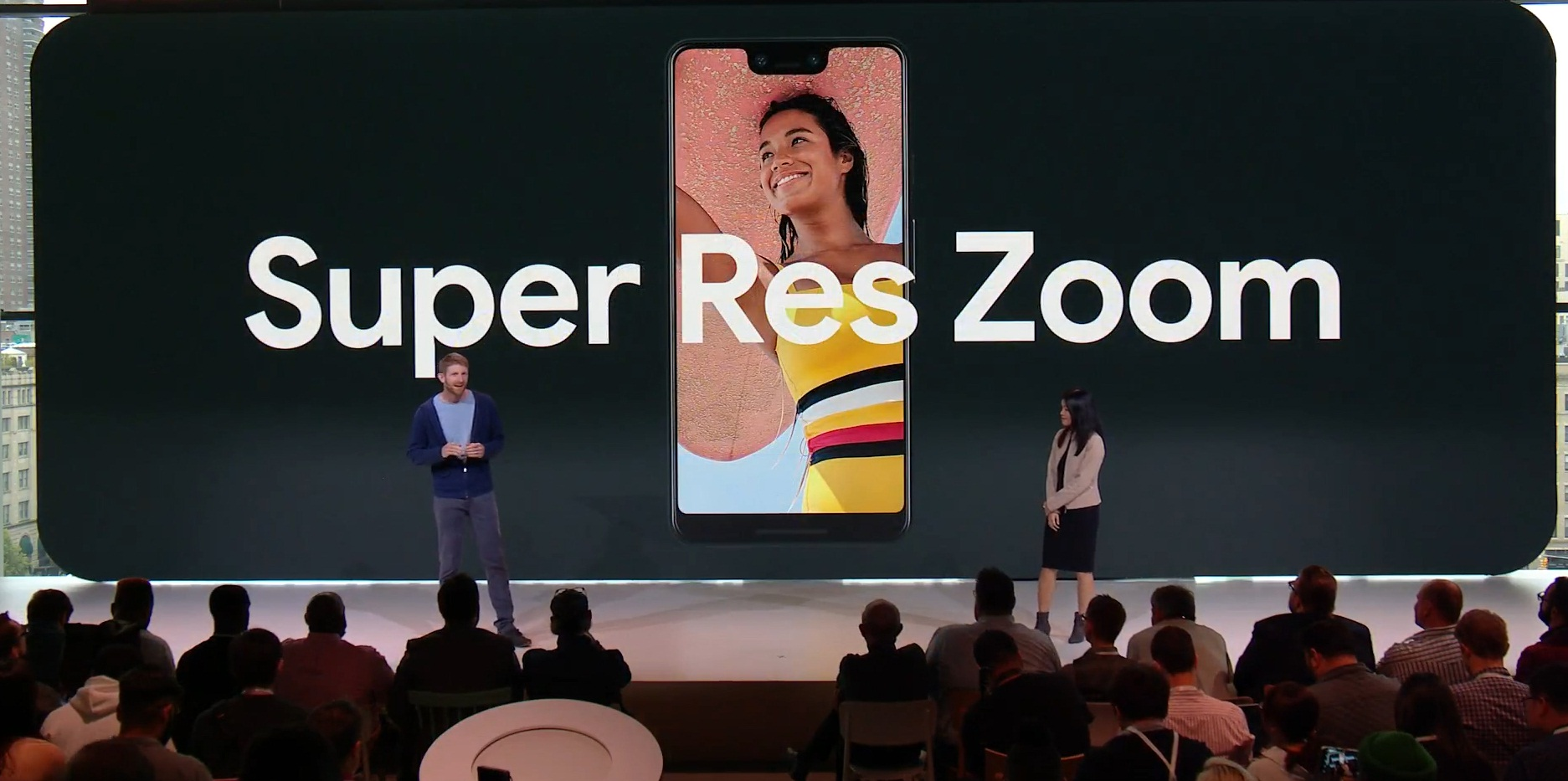 how to use super res zoon on the pixel 3's camera