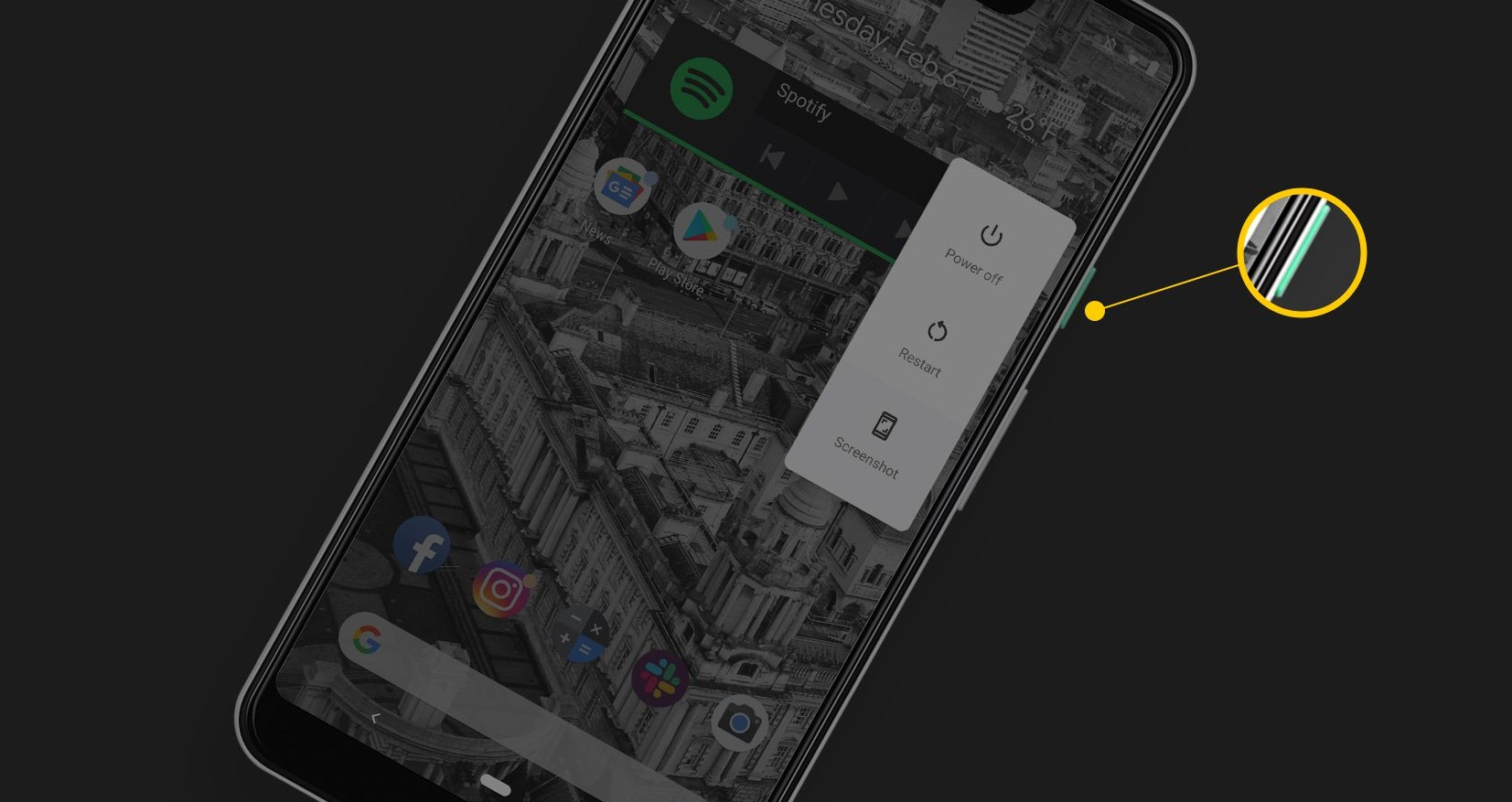 how to force restart google pixel 3
